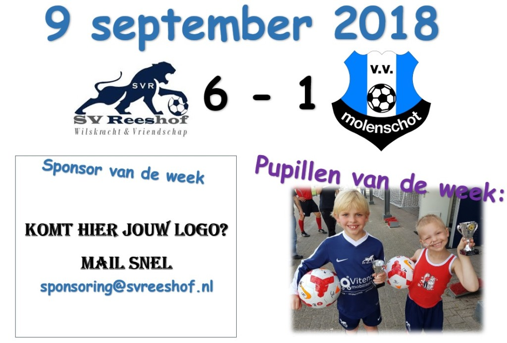 Pupil van de week 9 september 2018
